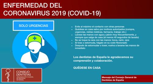 información coronavirus clinica dental