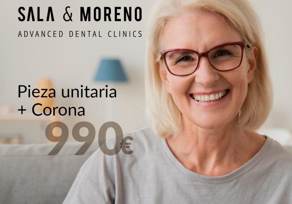 implante dental y corona